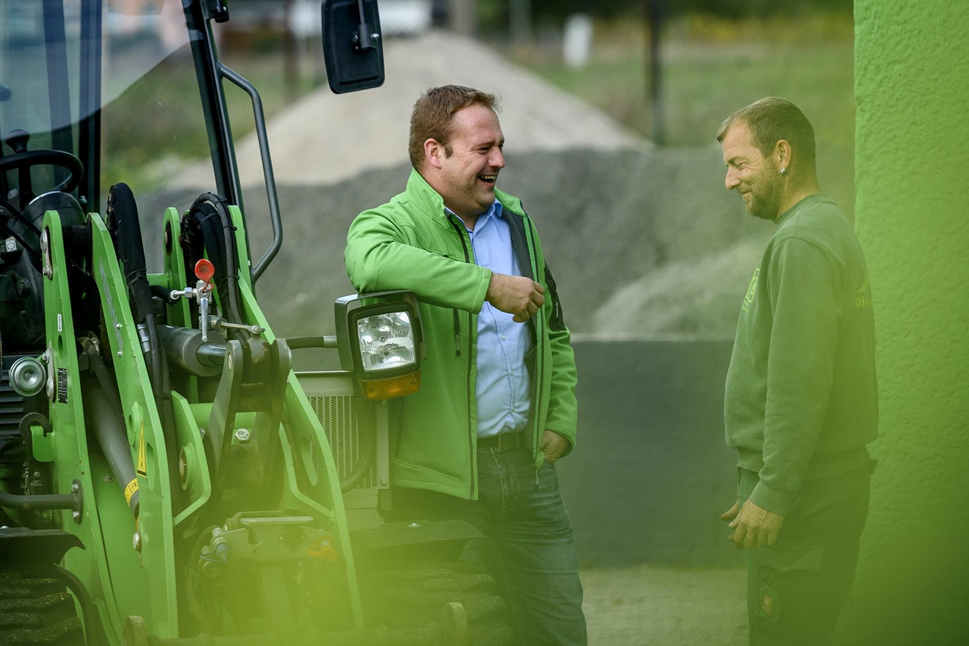 Robert Kühne mit Mitarbeiter