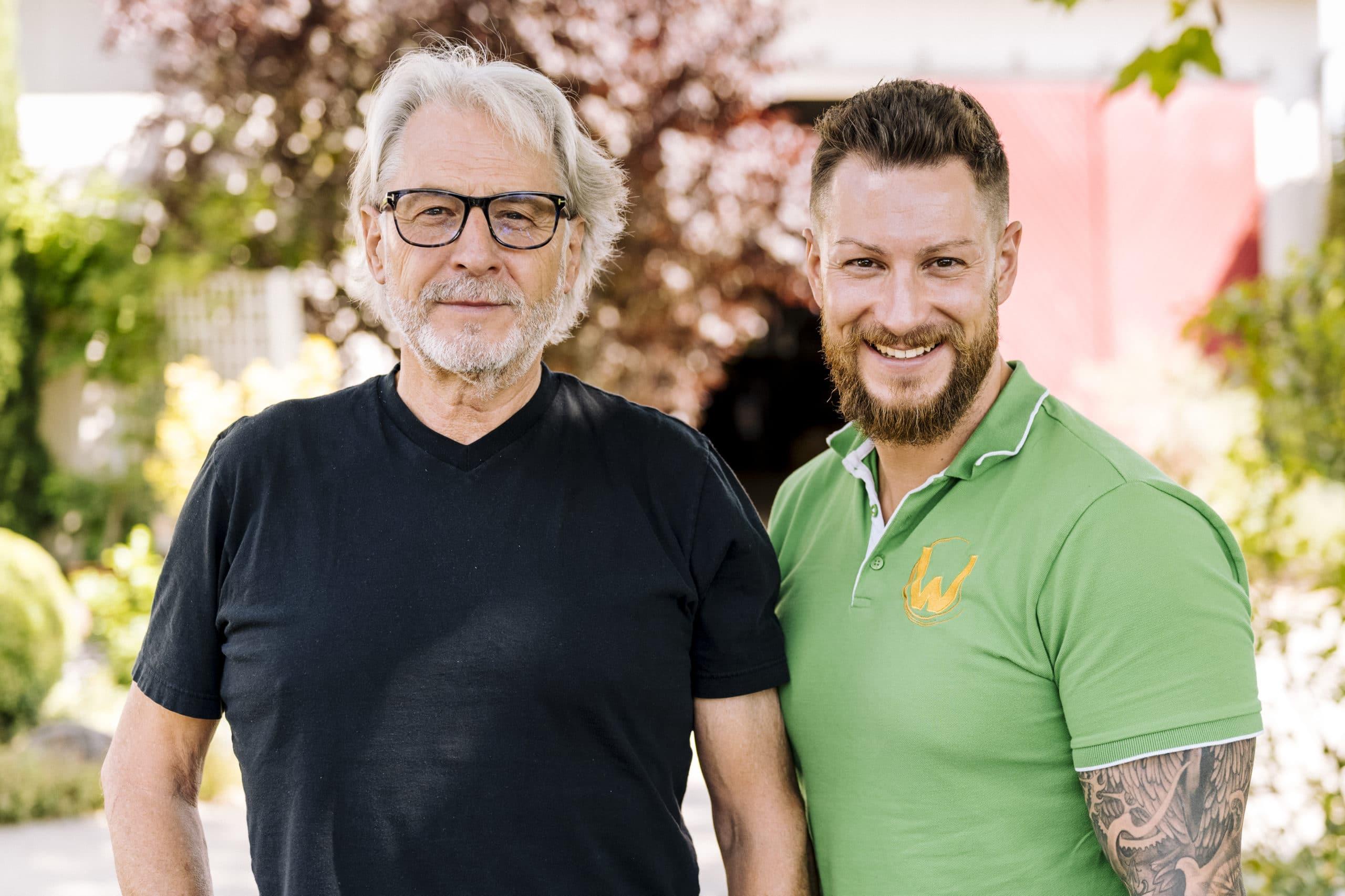 Max Wollesen mit Vater Burkhardt