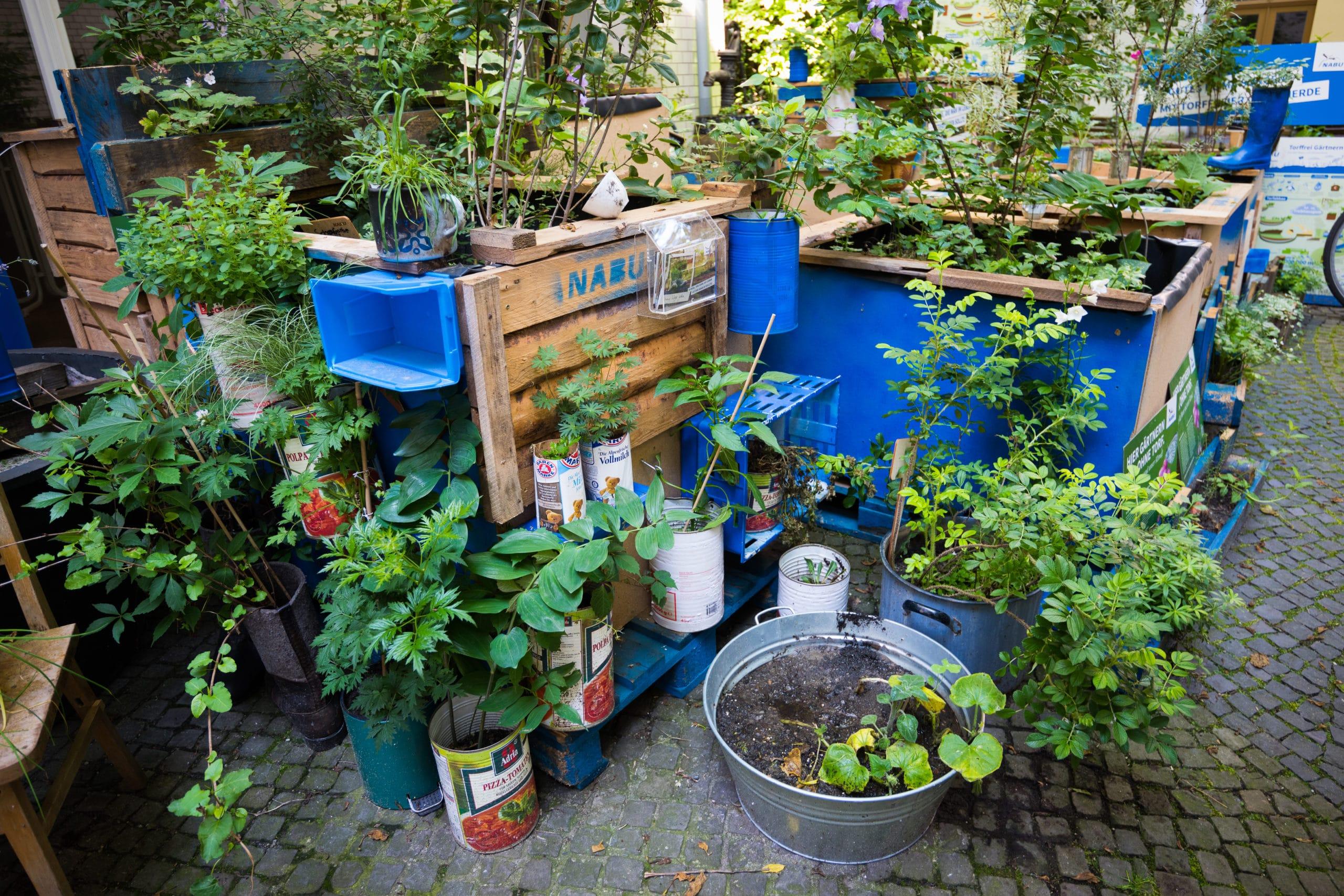 Upcycling im NABU-Garten